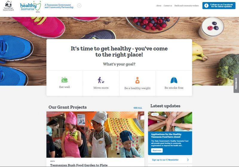 Healthy Tasmania Portal Screenshot
