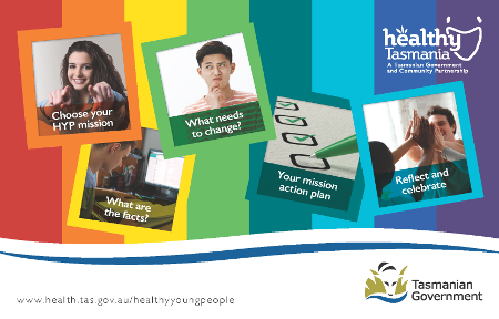 Healthy Young People website postcard
